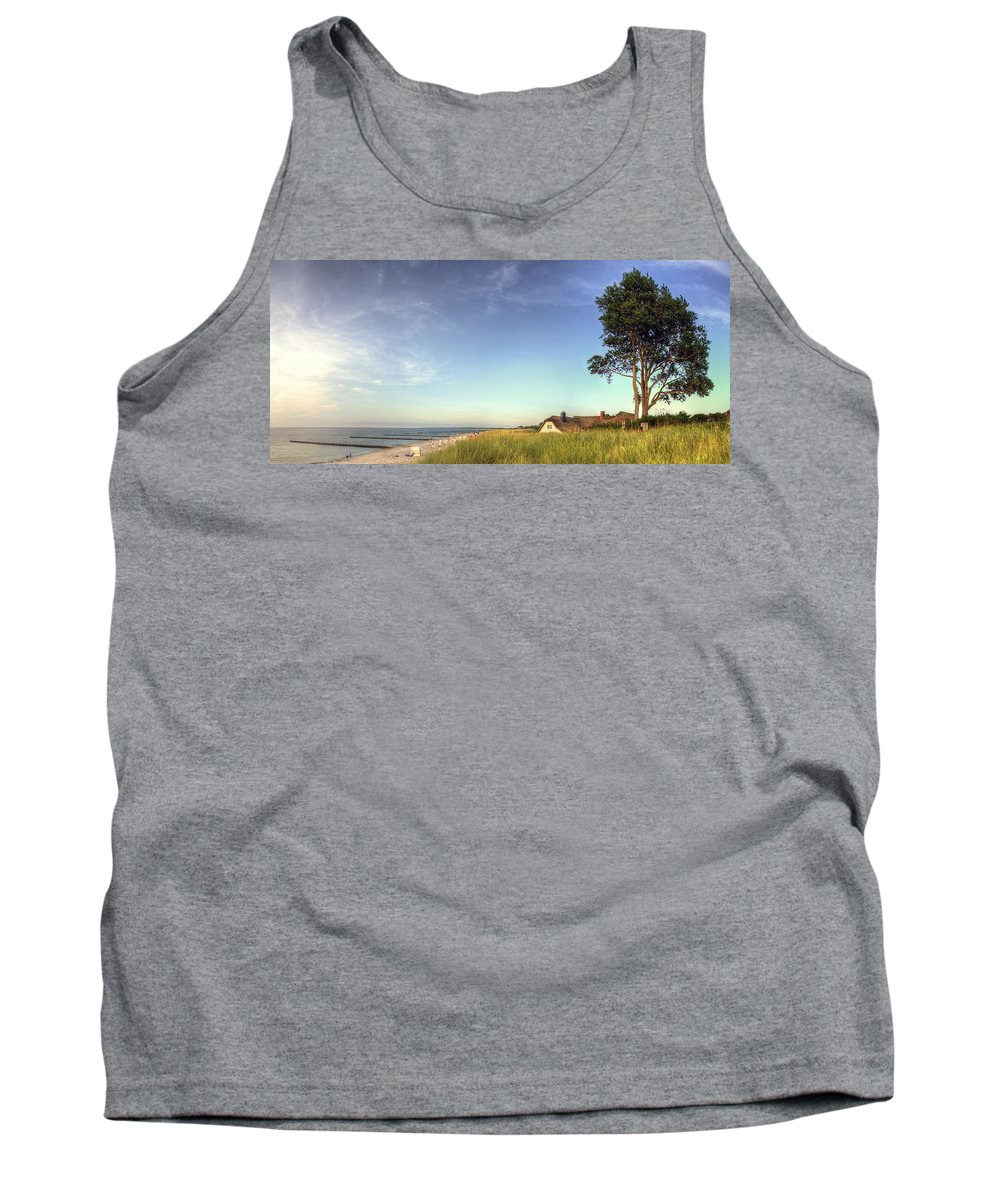 Baltic Sea Tank Top featuring the pyrography Ahrenshoop by Steffen Gierok