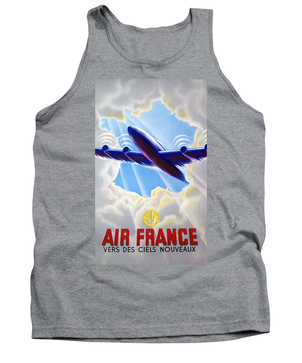 Poster Tank Top featuring the photograph Air France by Mountain Dreams