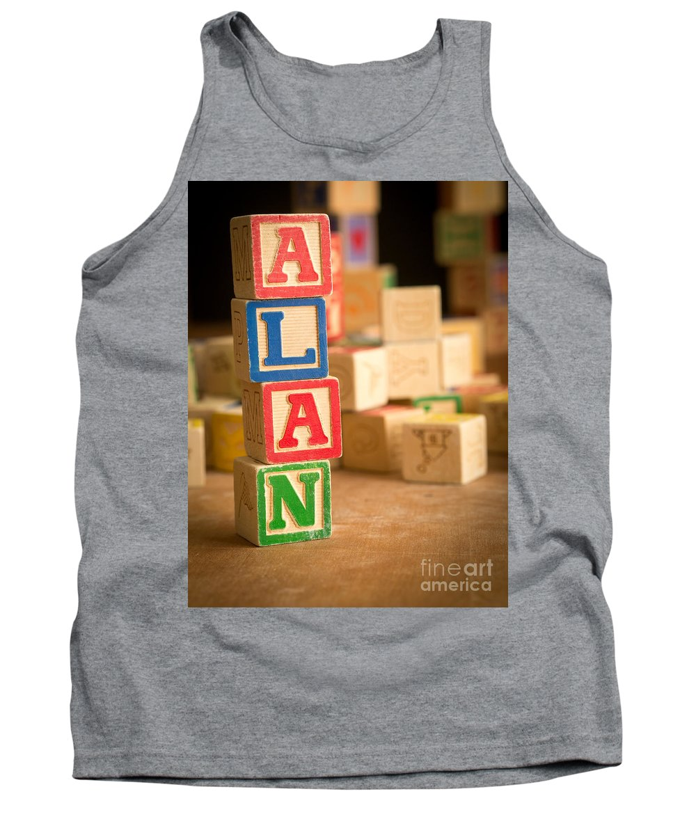 Abs Tank Top featuring the photograph Alan - Alphabet Blocks by Edward Fielding
