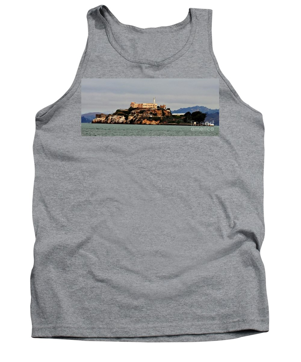 San Francisco Tank Top featuring the photograph Alcatraz Island - The Rock by Tap On Photo