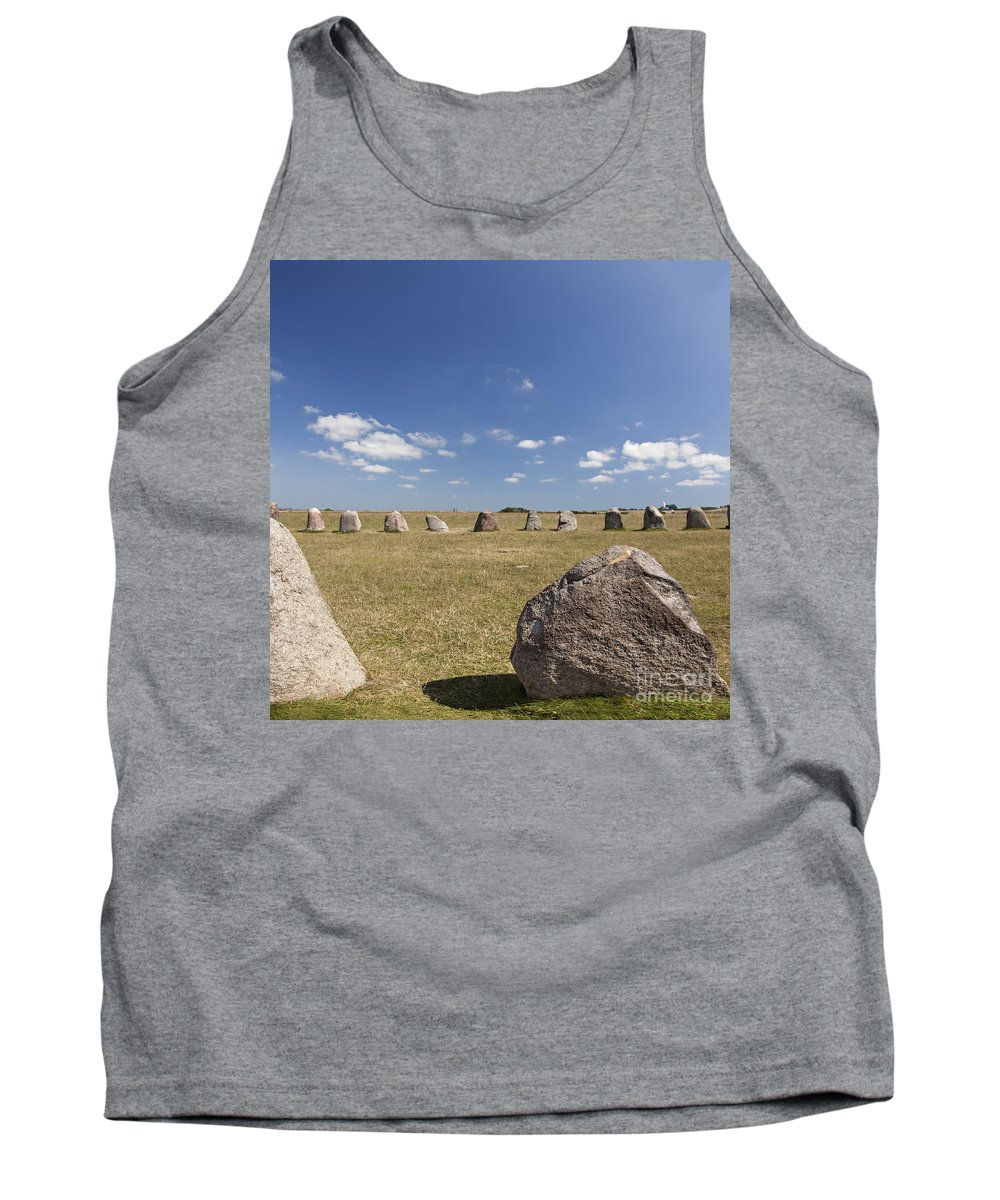 Standing Tank Top featuring the photograph Ales Standing Stones by Sophie McAulay