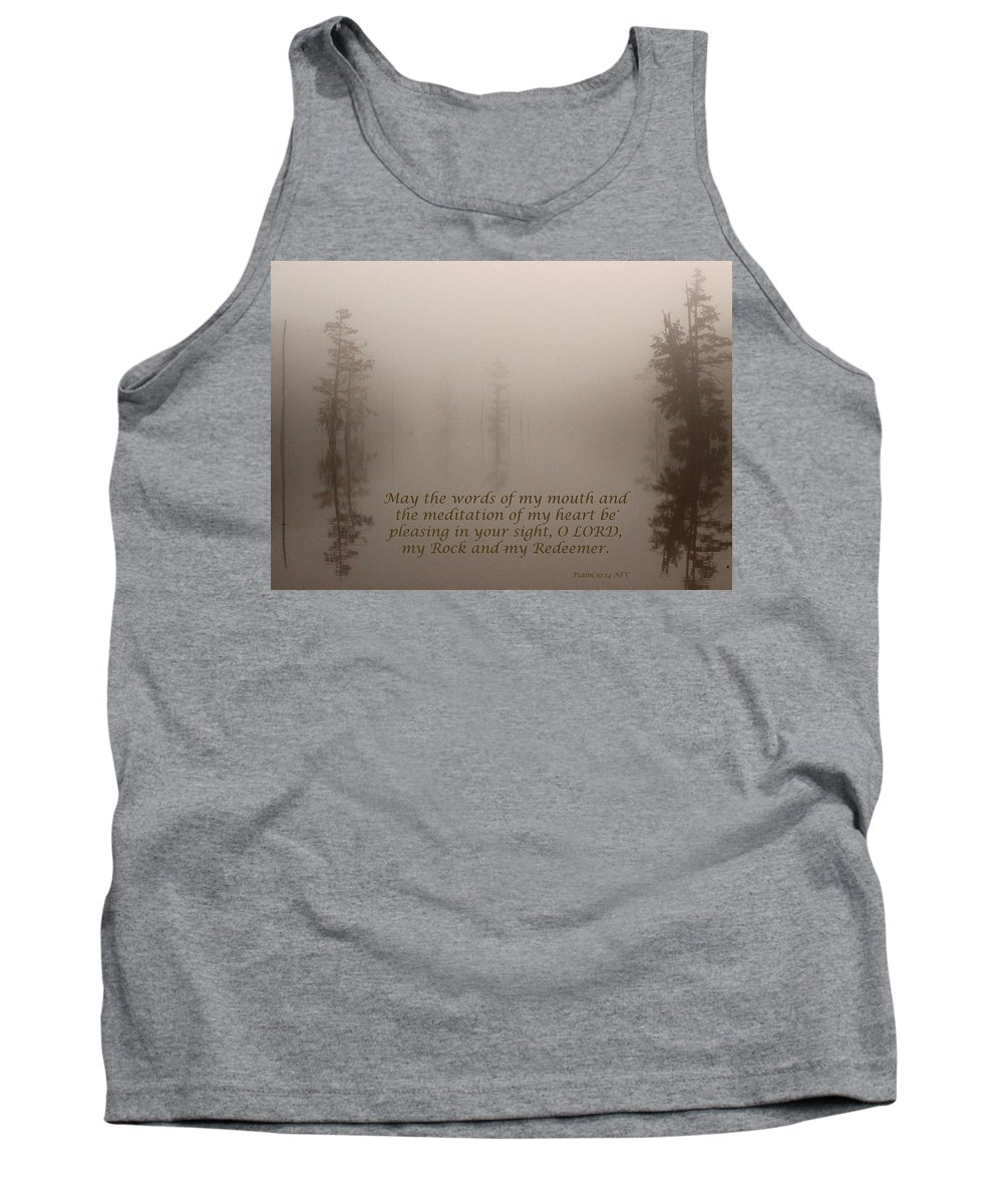 Psalm Tank Top featuring the photograph All Is Calm by Karen Beasley