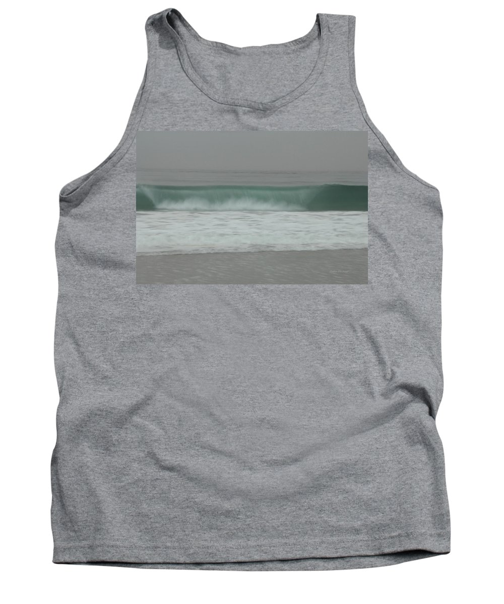 Ocean Tank Top featuring the photograph All Rolled Up by Donna Blackhall