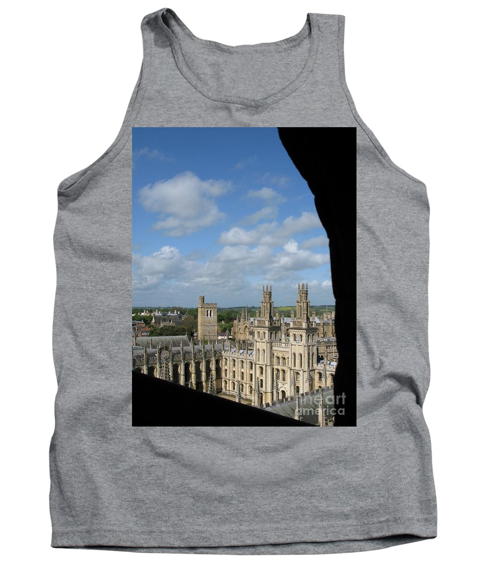 Oxford University Tank Top featuring the photograph All Souls College And Beyond by Ann Horn
