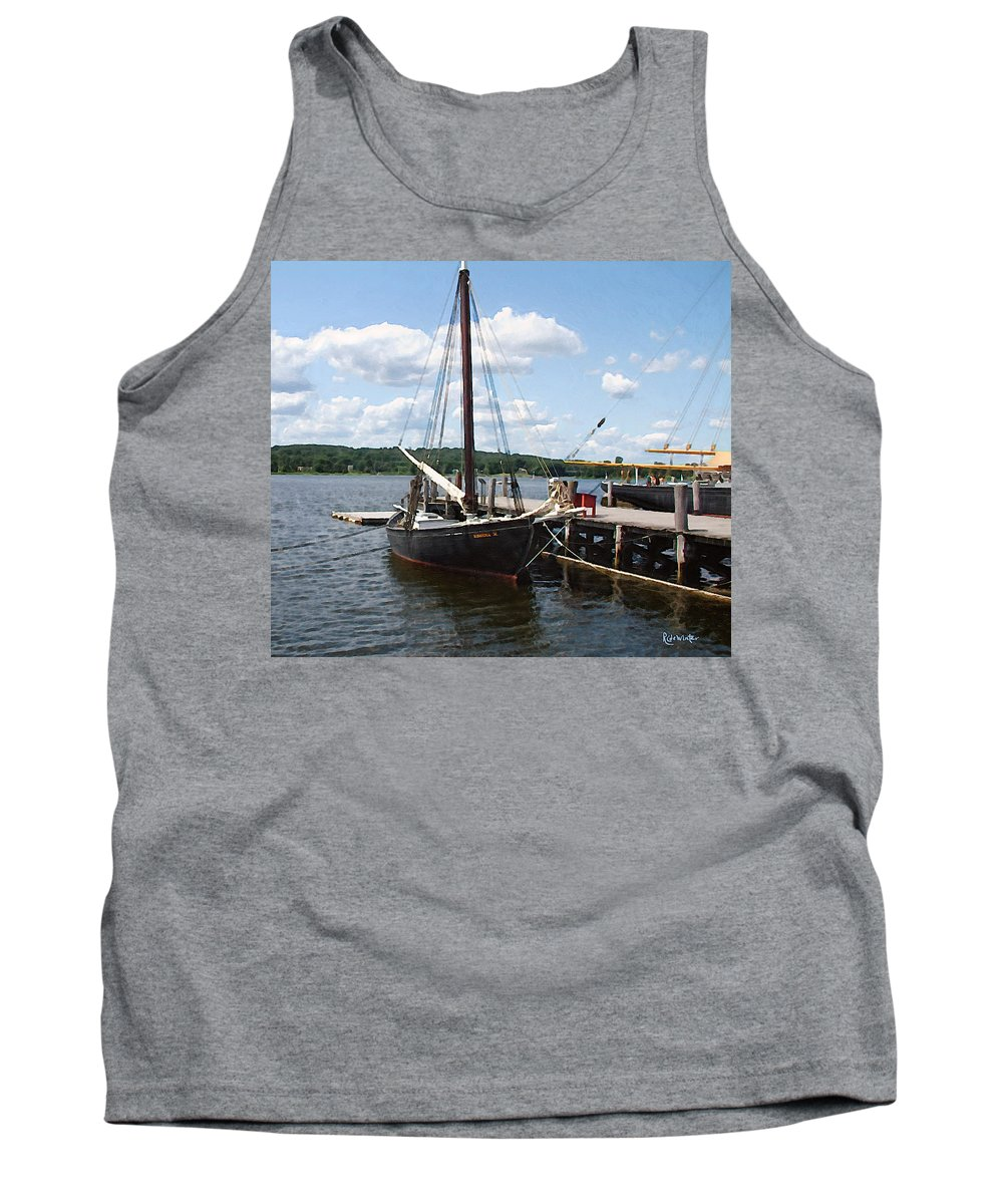 Landscape Tank Top featuring the painting All Tied Up by RC DeWinter