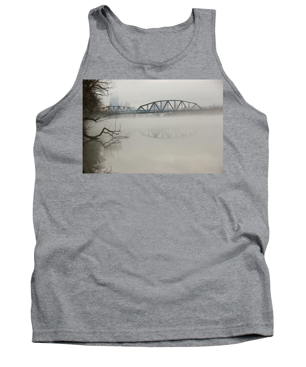 Landscape Tank Top featuring the photograph Allegheny In The Mist by Jay Ressler