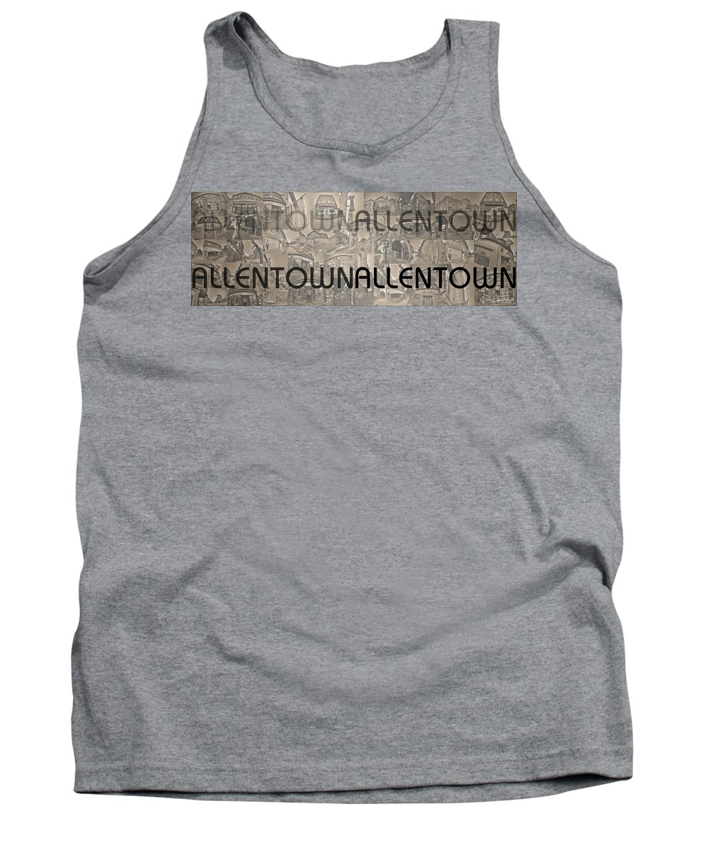 Allentown Tank Top featuring the photograph Allentown by Michael Frank Jr