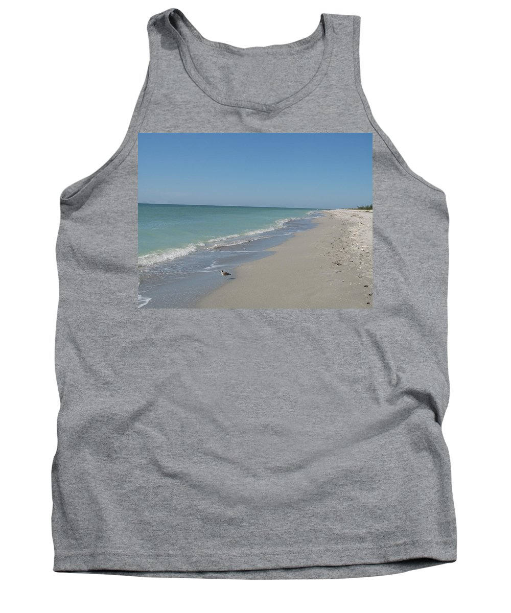 Beach Tank Top featuring the photograph Alone At The Beach by Christiane Schulze Art And Photography