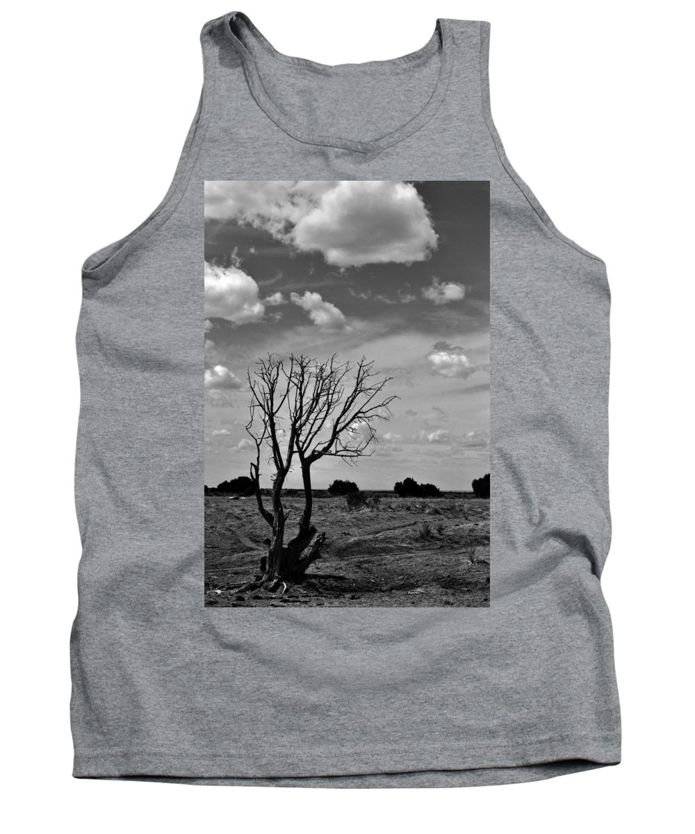 Landscape Tank Top featuring the photograph Alone by Pam Romjue