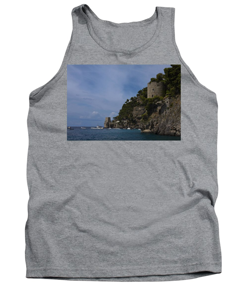 Rocky Coastline Tank Top featuring the photograph Amalfi Coast by Sally Weigand
