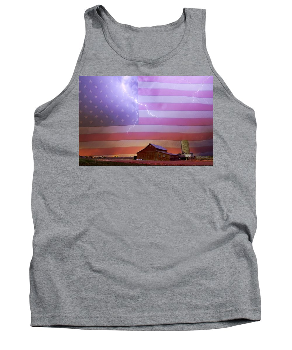 Usa Tank Top featuring the photograph American Country Storm by James BO Insogna