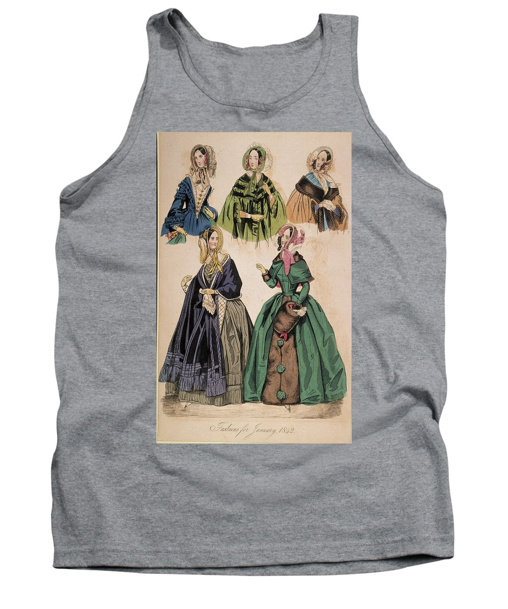 1842 Tank Top featuring the drawing American Fashion Print by Granger