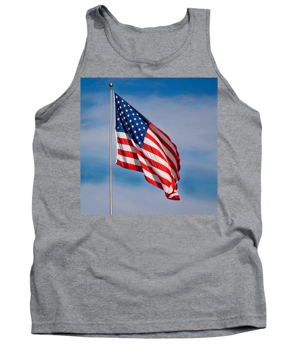 America Tank Top featuring the photograph American Flag by Benjamin Reed