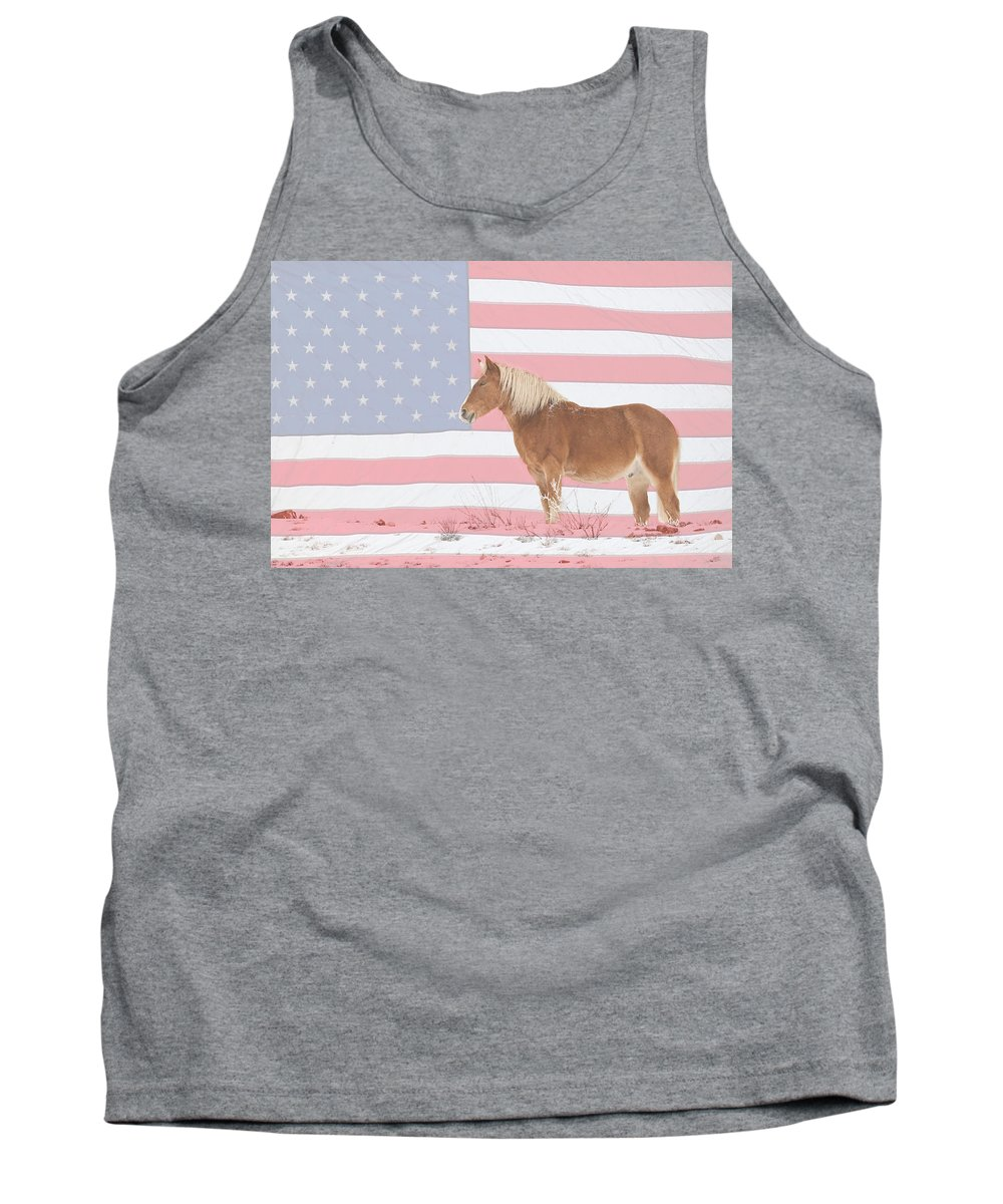 Palomino Tank Top featuring the photograph American Palomino by James BO Insogna