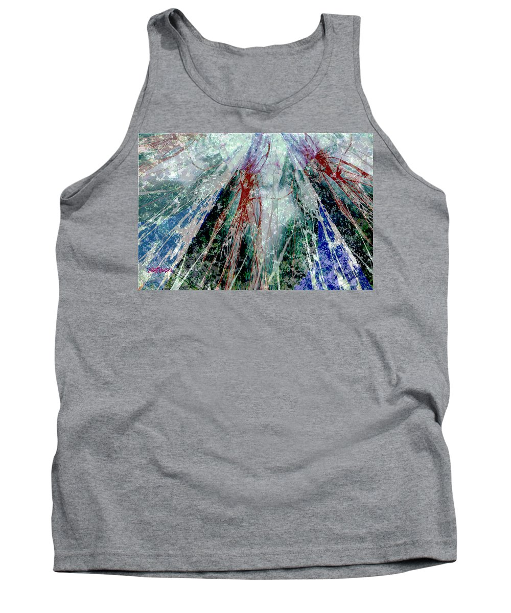 Amid The Falling Snow Tank Top featuring the digital art Amid The Falling Snow by Seth Weaver
