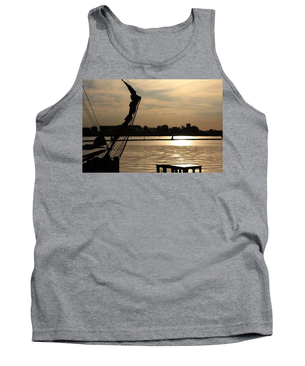 Amsterdam Tank Top featuring the photograph Amsterdam At Sunset by Aidan Moran