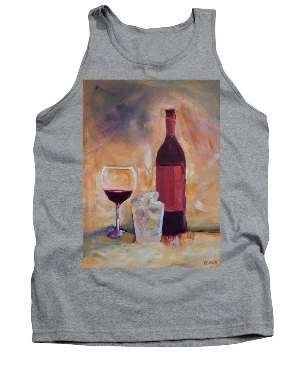 Red Tank Top featuring the painting An Afternoon Well Spent by Paulette B Wright