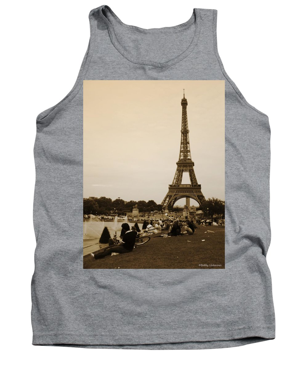 Paris Tank Top featuring the photograph An Evening At The Tower by Bobby Uzdavines