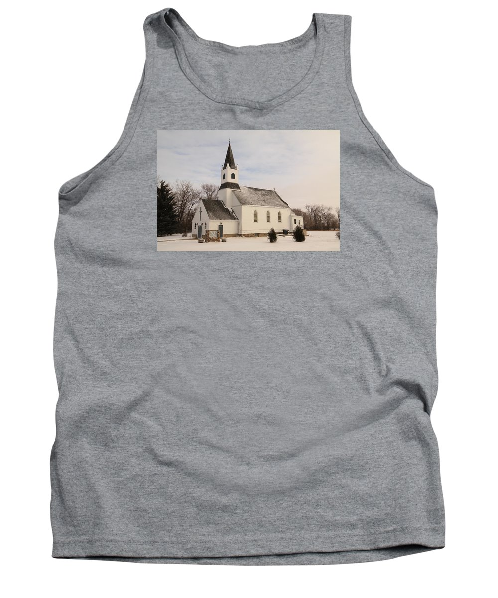 Church Tank Top featuring the photograph An Old Church In Palermo North Dakota by Jeff Swan
