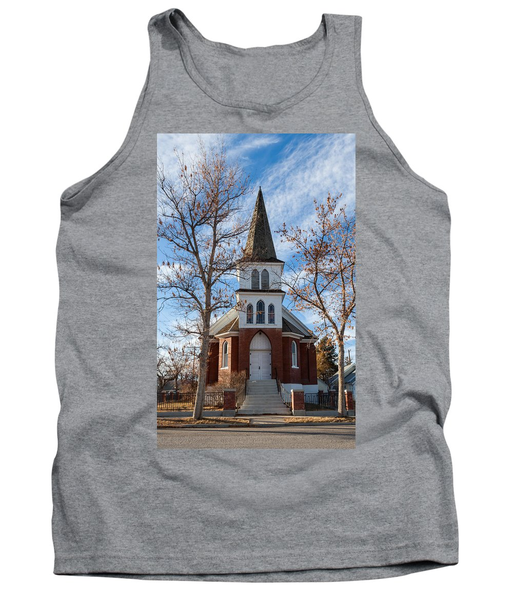 Chapel Tank Top featuring the photograph Anaconda Christian Church by Fran Riley