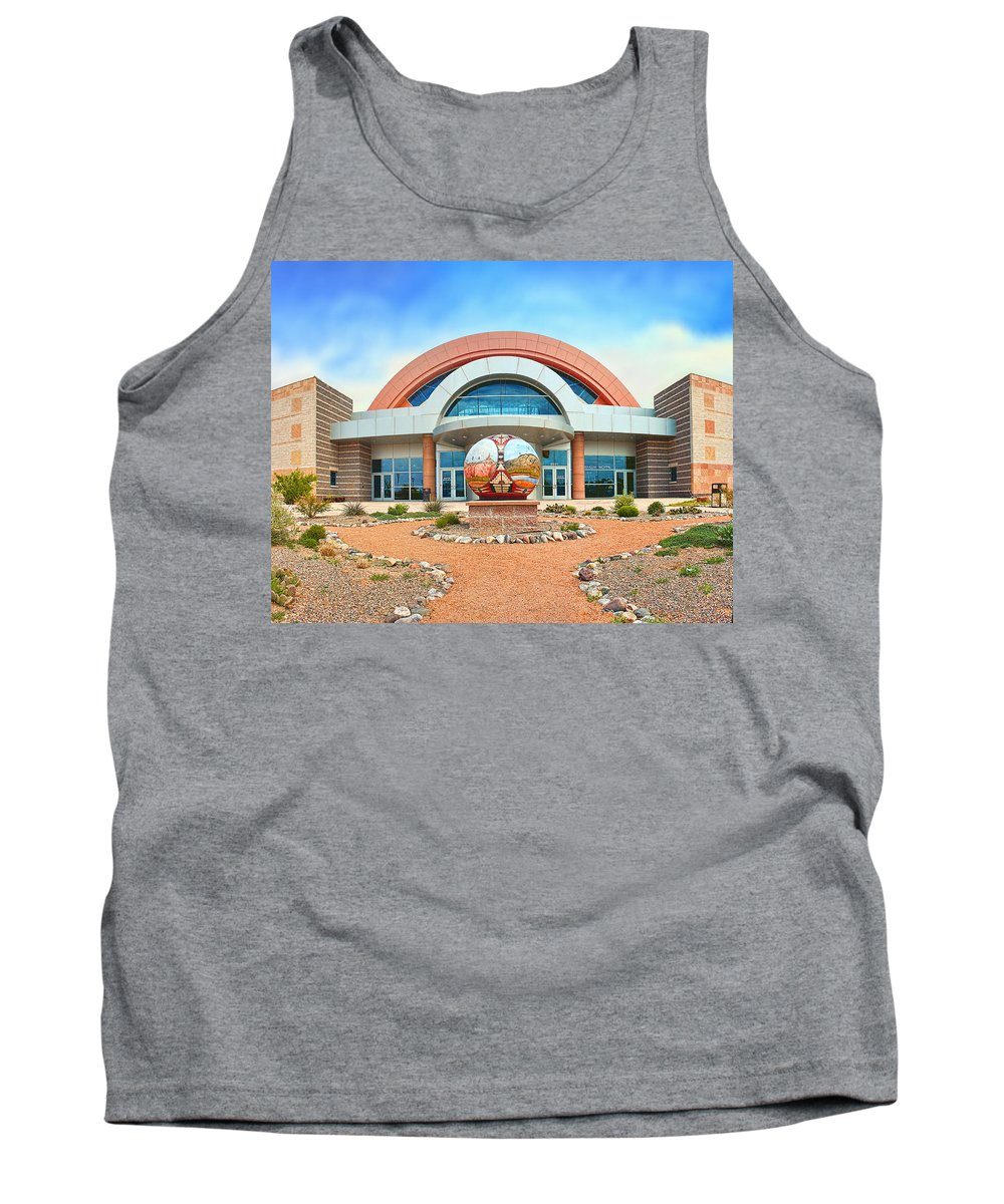 Clouds Tank Top featuring the photograph Anderson Abruzzo Albuquerque International Balloon Museum by Brian King