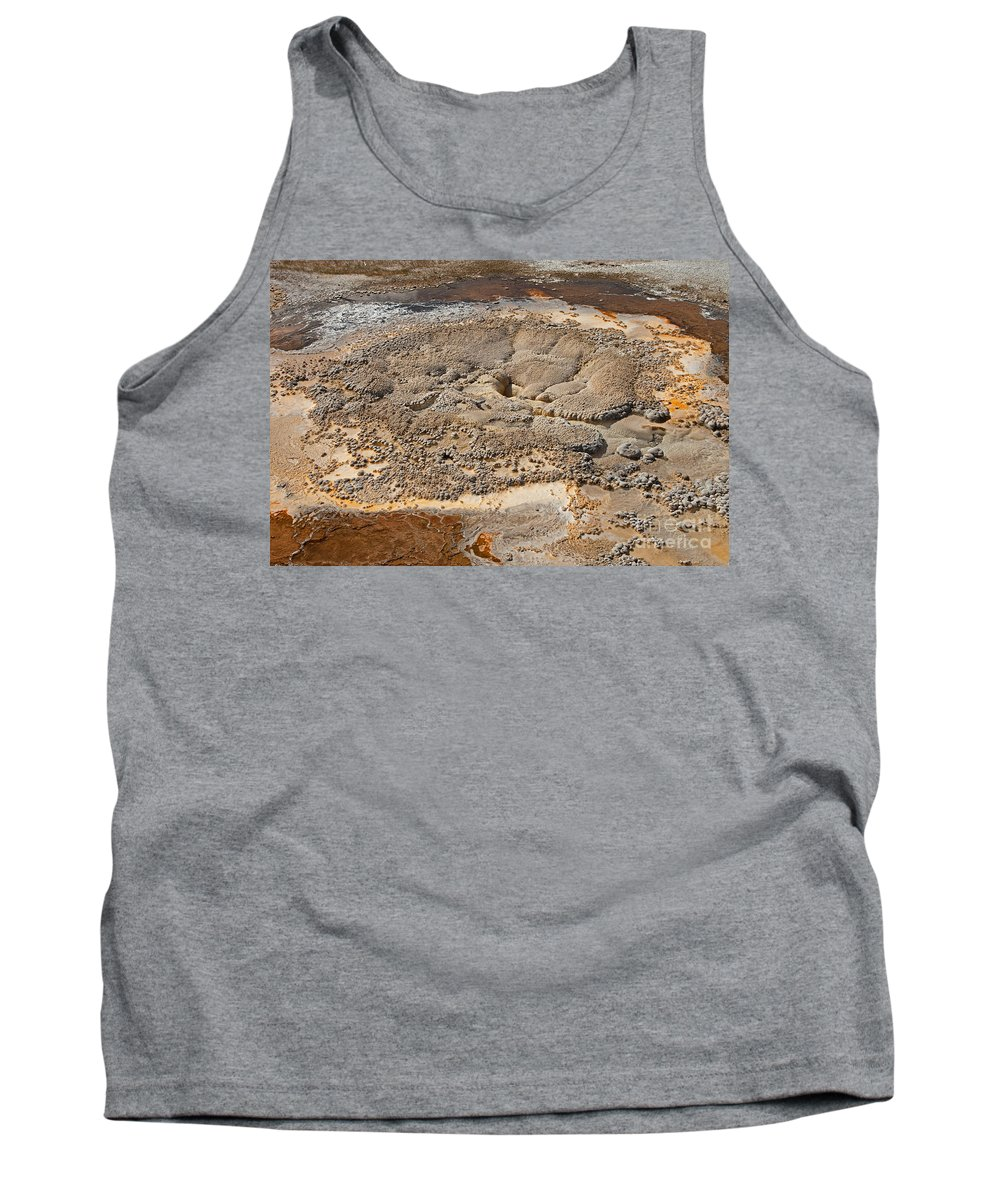 Anemone Geyser Tank Top featuring the photograph Anemone Geyser In Upper Geyser Basin by Fred Stearns