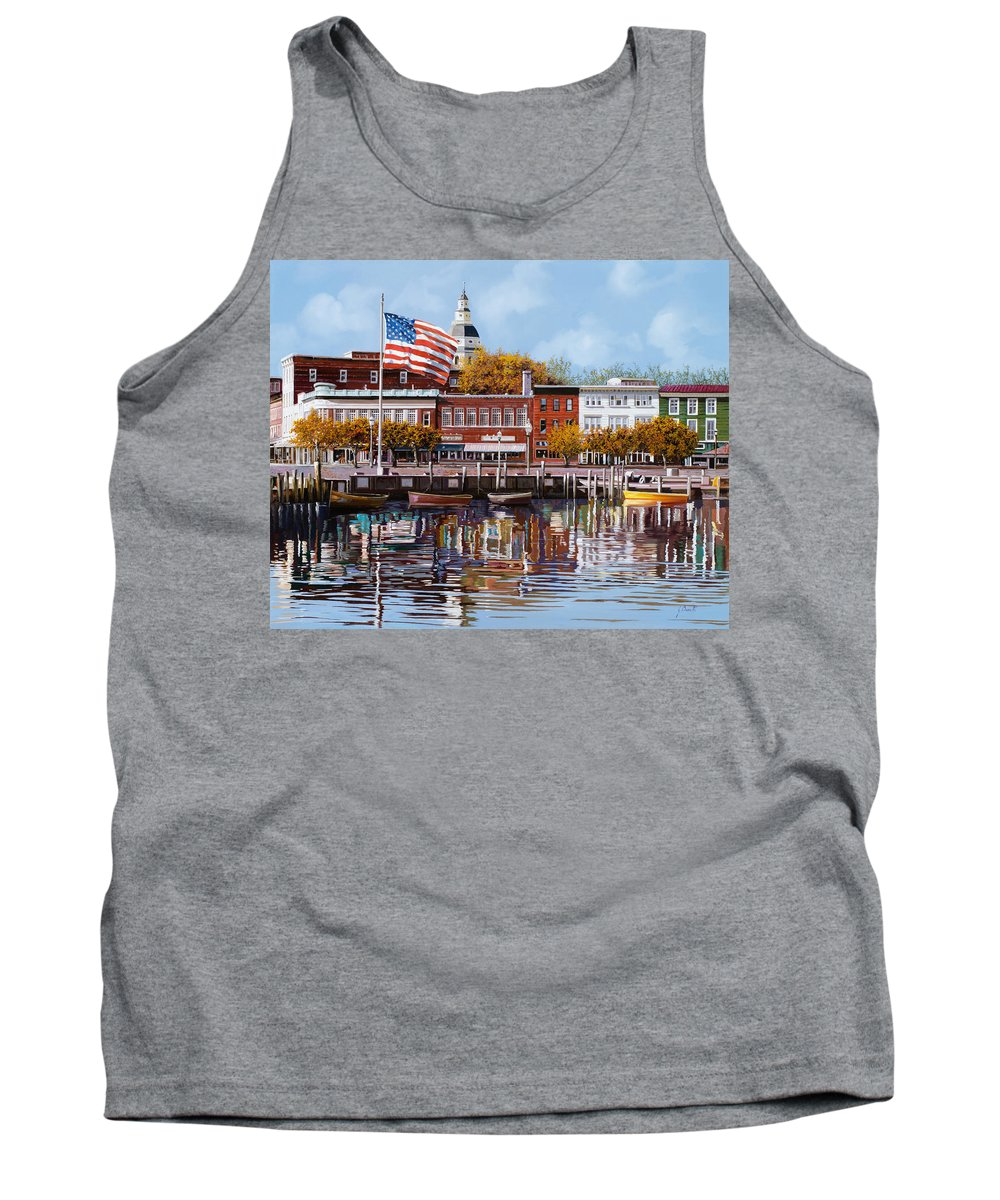 Annapolis Tank Top featuring the painting Annapolis by Guido Borelli
