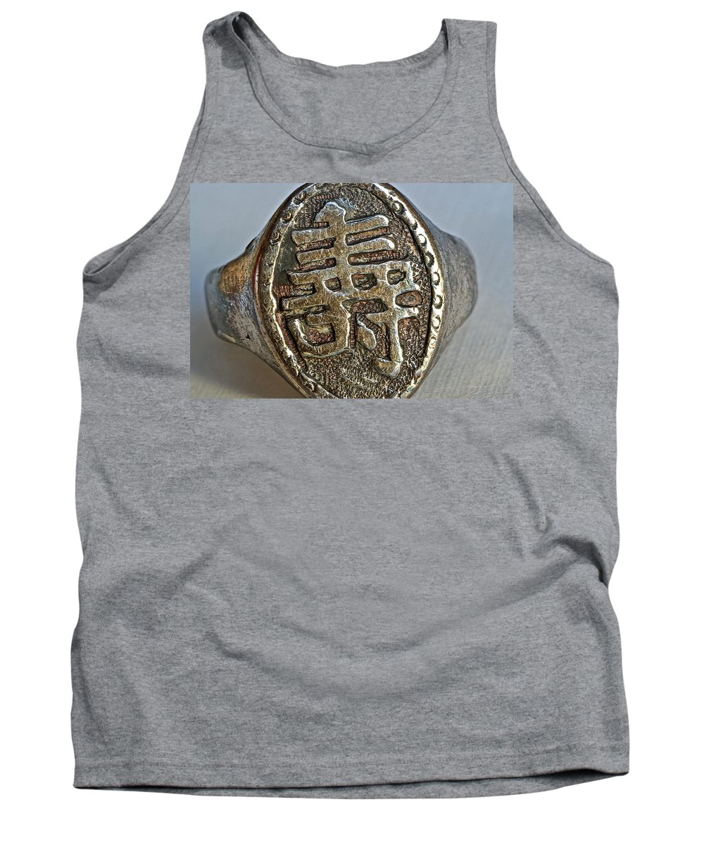 Antique Chinese Ring Tank Top featuring the photograph Antique Chinese Ring by Bill Owen