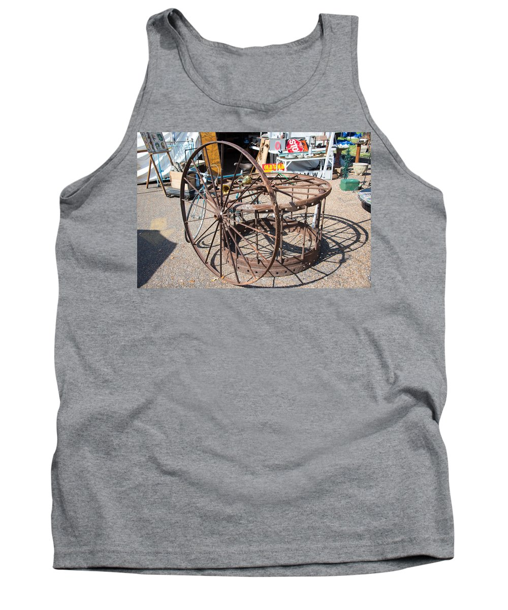 Texas Tank Top featuring the photograph Fayetteville Texas Rings And Wheels by JG Thompson