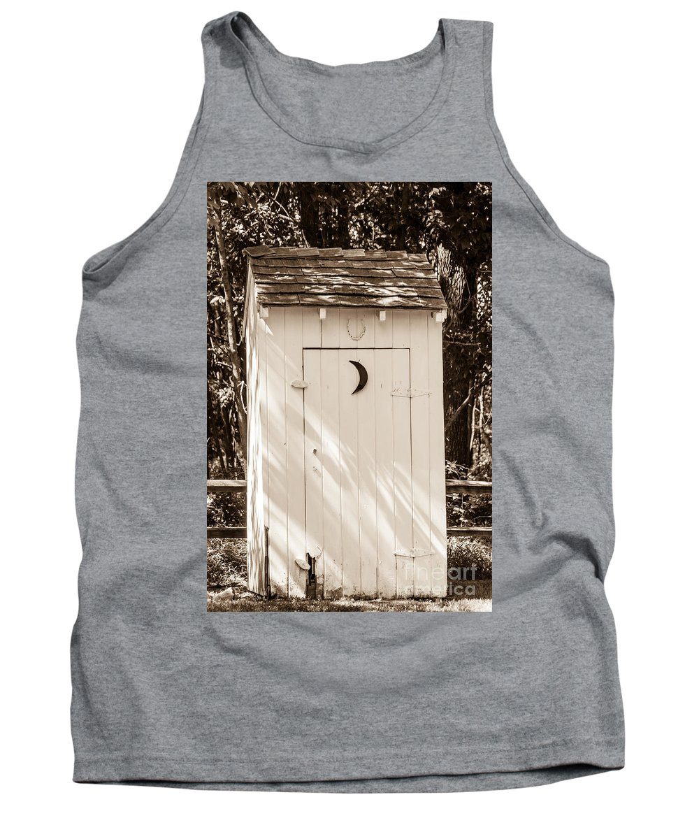 Outhouse Tank Top featuring the photograph Antique Outhouse by Anthony Sacco