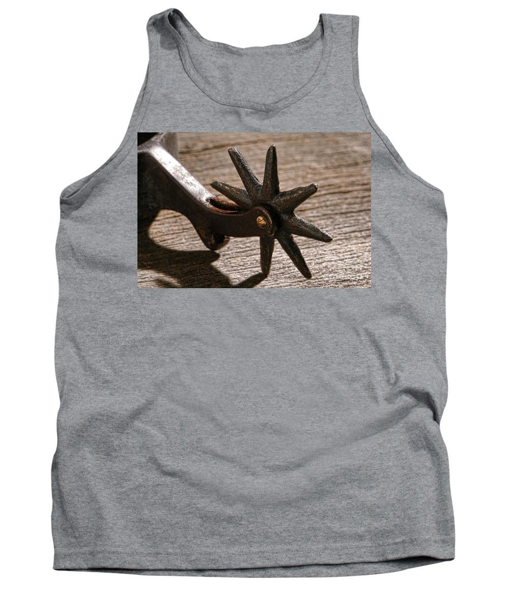 Spur Tank Top featuring the photograph Antique Star Spur by Olivier Le Queinec