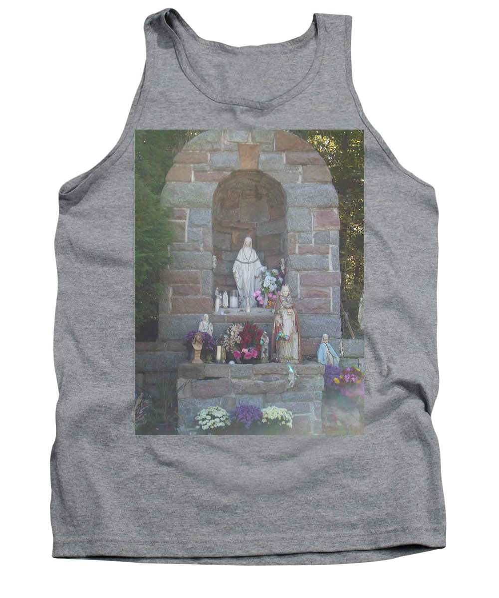 Apparition Tank Top featuring the photograph Apparition Of Virgin Mary by Art Dingo