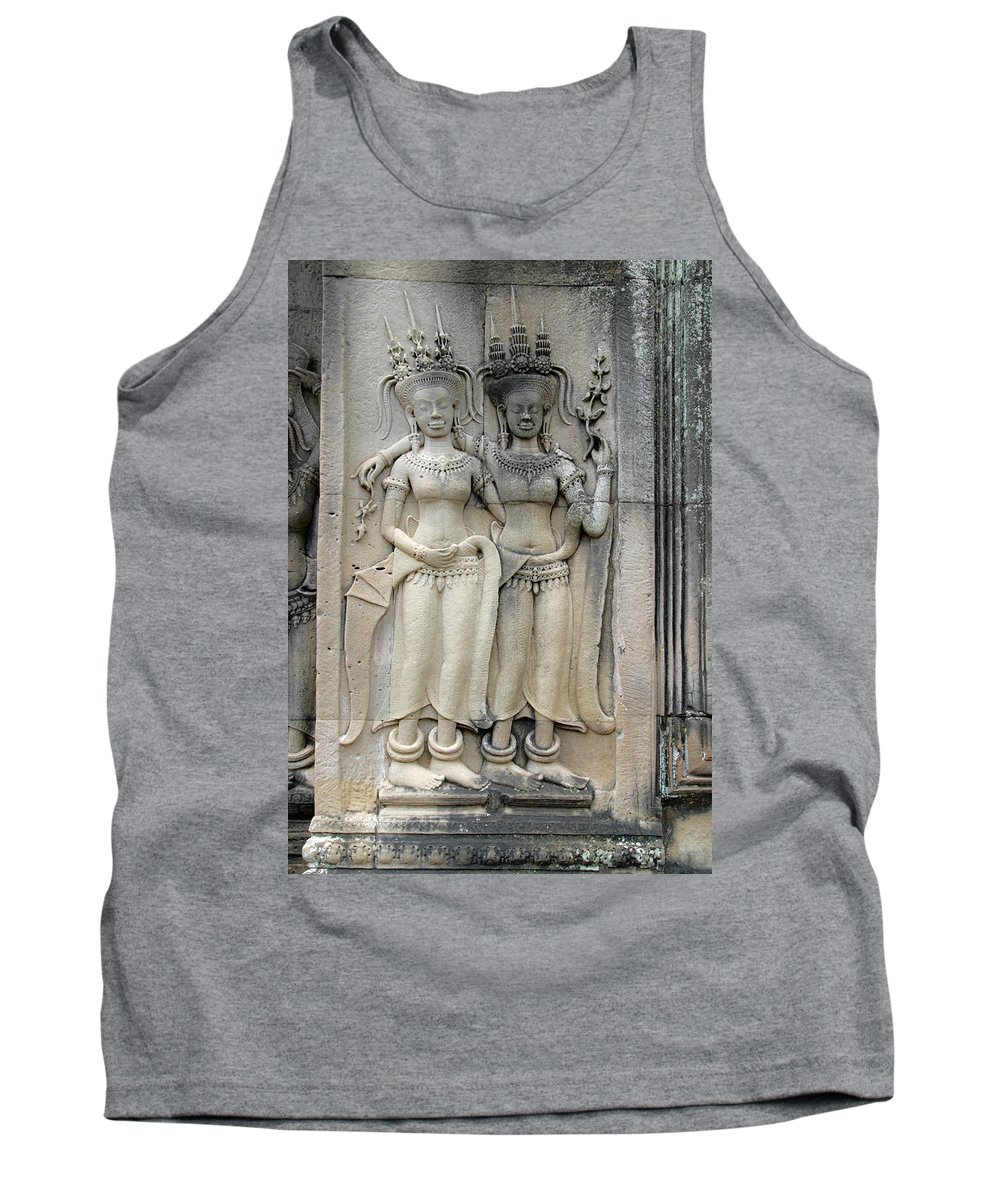 Cambodia Tank Top featuring the photograph Apsaras by David Freuthal