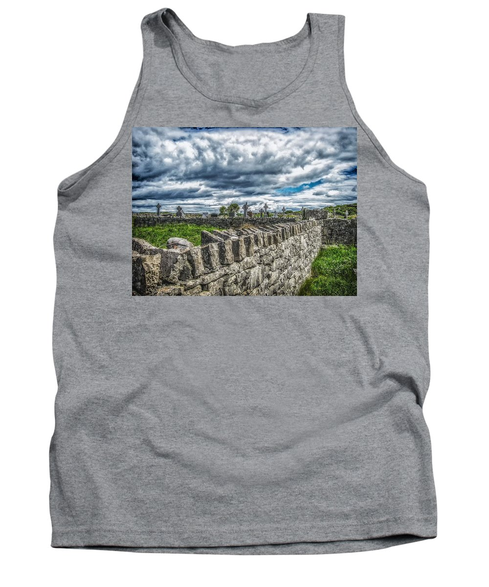 Aran Island Tank Top featuring the photograph Aran Island Cemetary Ireland by Gestalt Imagery