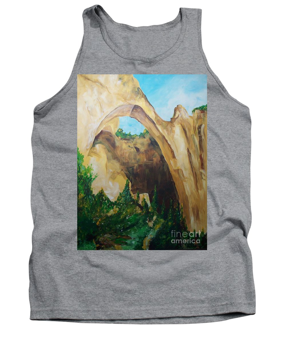 Floral Tank Top featuring the painting Arch by Eric Schiabor