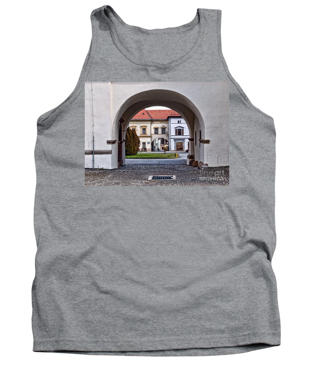 Arch Tank Top featuring the photograph Archways by Les Palenik