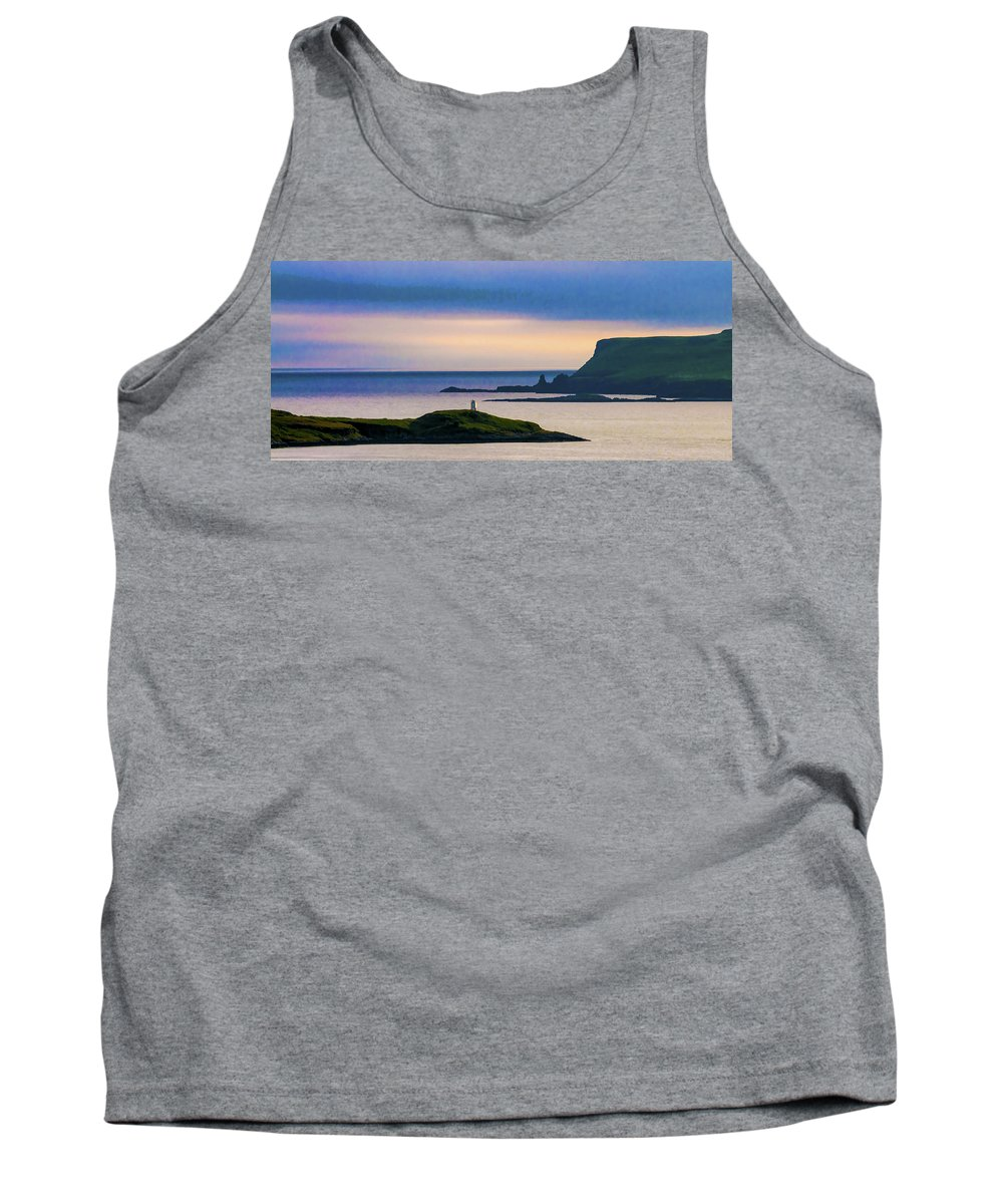 Highlands Tank Top featuring the photograph Ardtreck Point Lighthouse by Neil Alexander