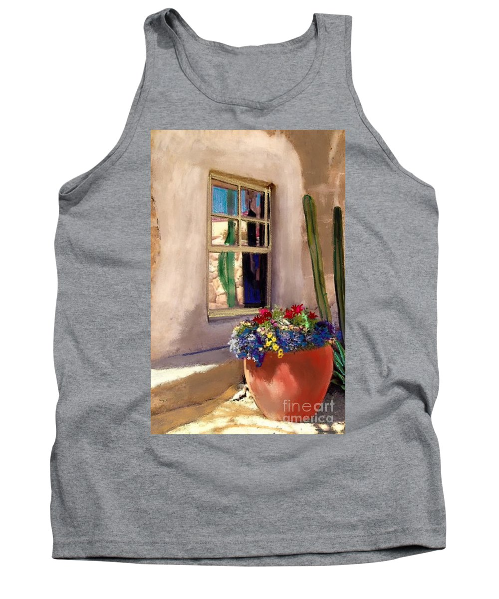 Arizona Window Tank Top featuring the painting Arizona Window by Craig Nelson