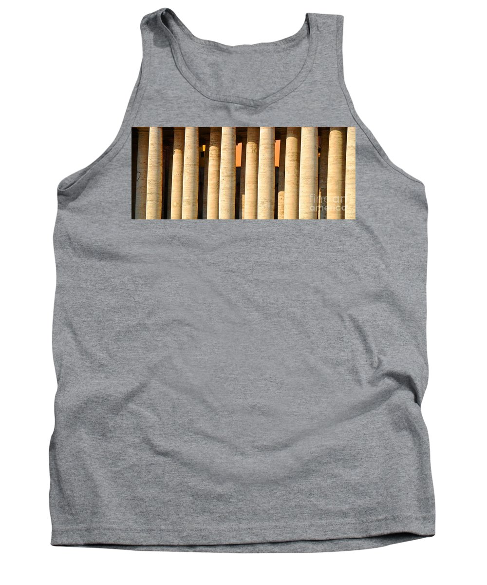 Vatican City Tank Top featuring the photograph Arms Of St Peters by Phillip Allen