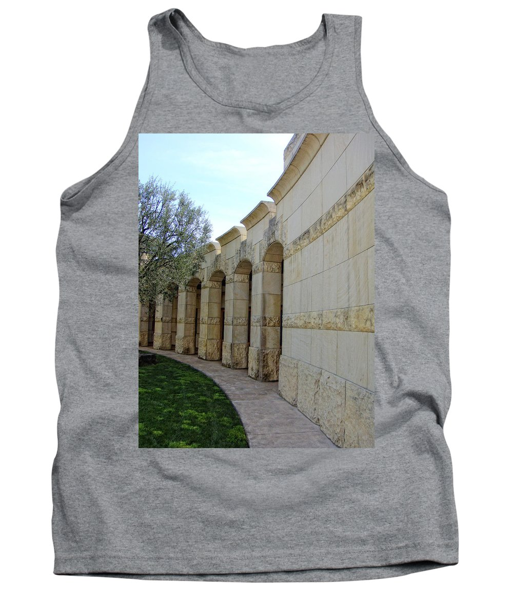 Architecture Tank Top featuring the photograph Around The Bend by Donna Blackhall