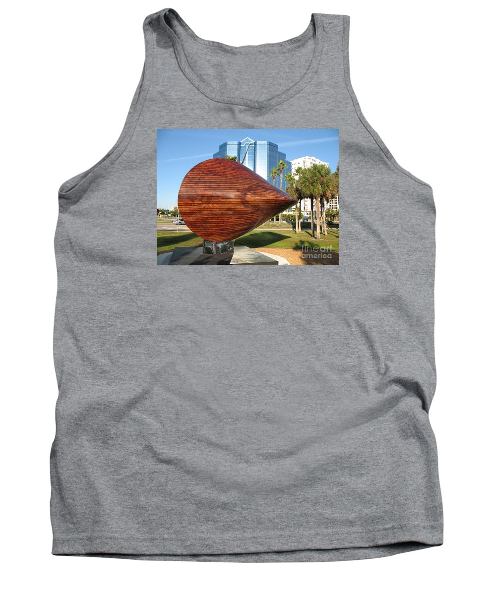 Art Tank Top featuring the photograph Art 2009 At Sarasota Waterfront by Christiane Schulze Art And Photography