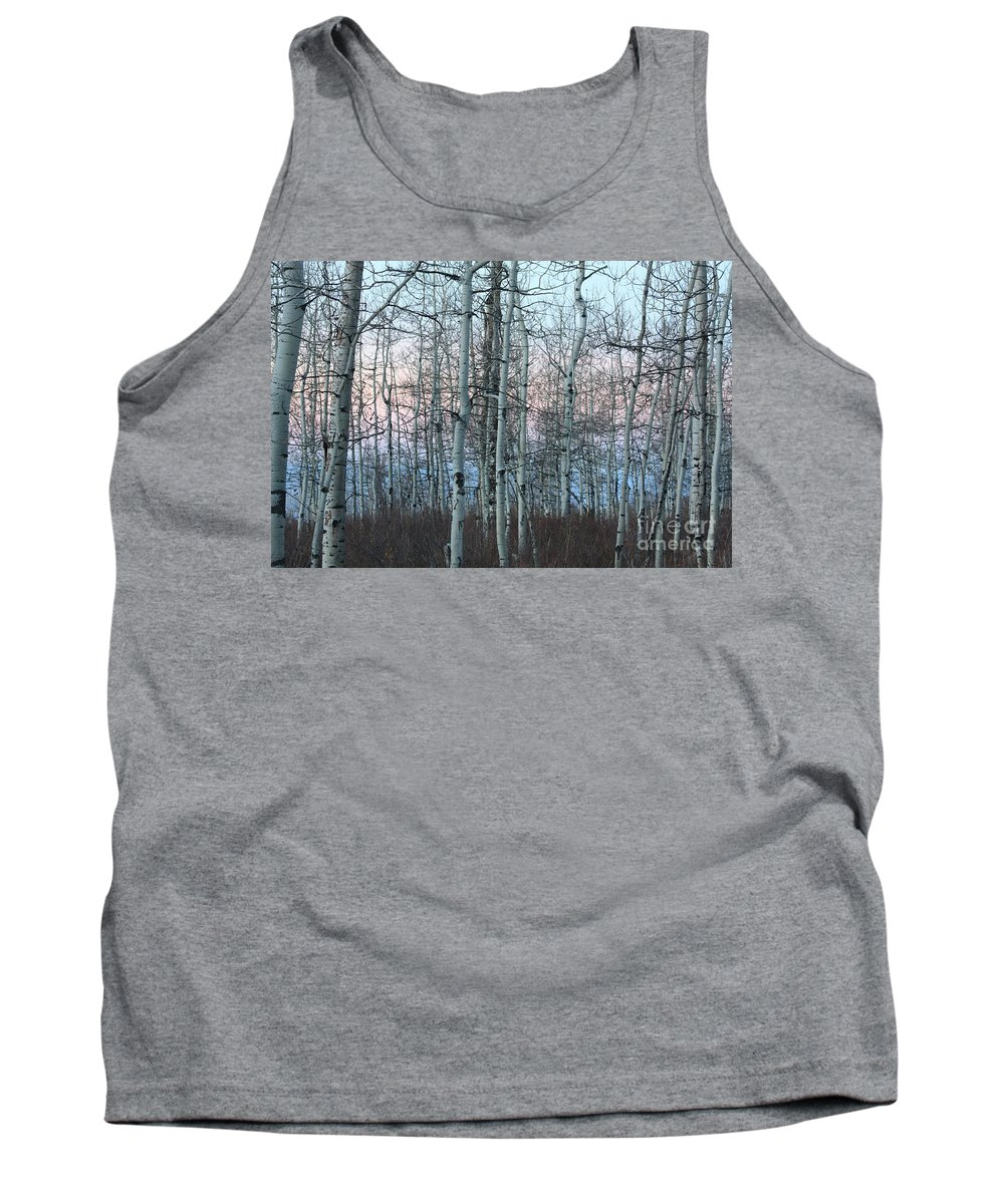 Aspens Tank Top featuring the photograph Aspens In Twilight by Brandi Maher