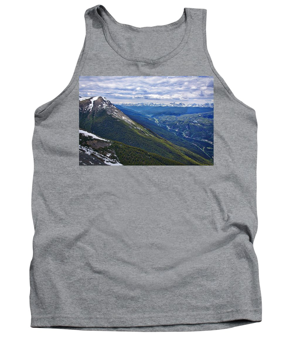 Jasper National Park Tank Top featuring the photograph Athabasca River Valley - Jasper by Stuart Litoff
