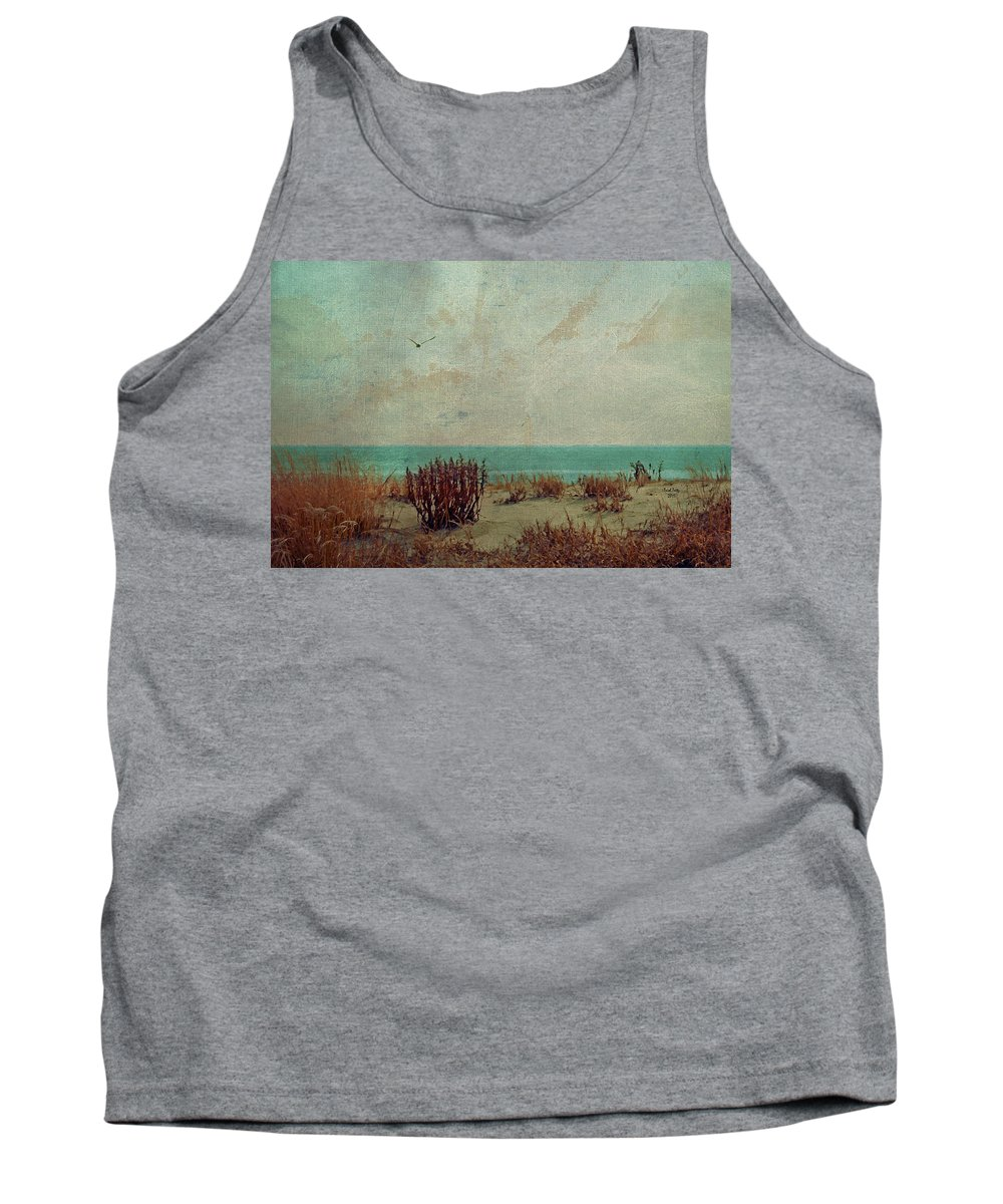 Ocean Tank Top featuring the photograph Atlantic City Seagull by Trish Tritz