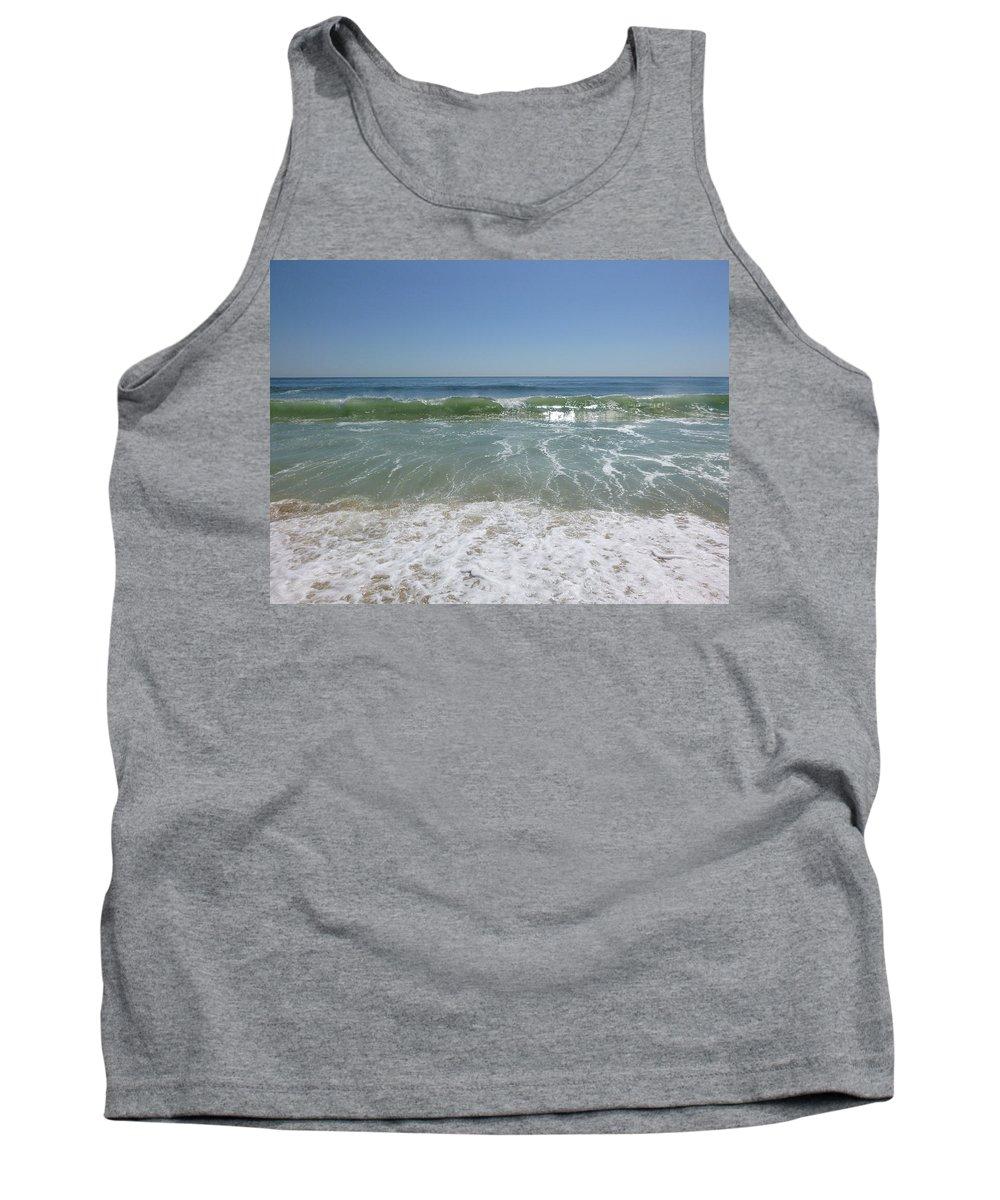 August Tank Top featuring the photograph August Ocean by Ellen Paull