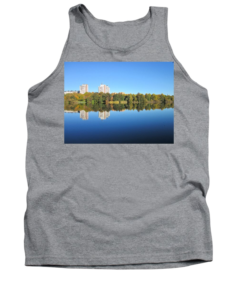 Nobody Tank Top featuring the photograph Autumn By The Triangle Lake In Stockholm by Rosita Larsson