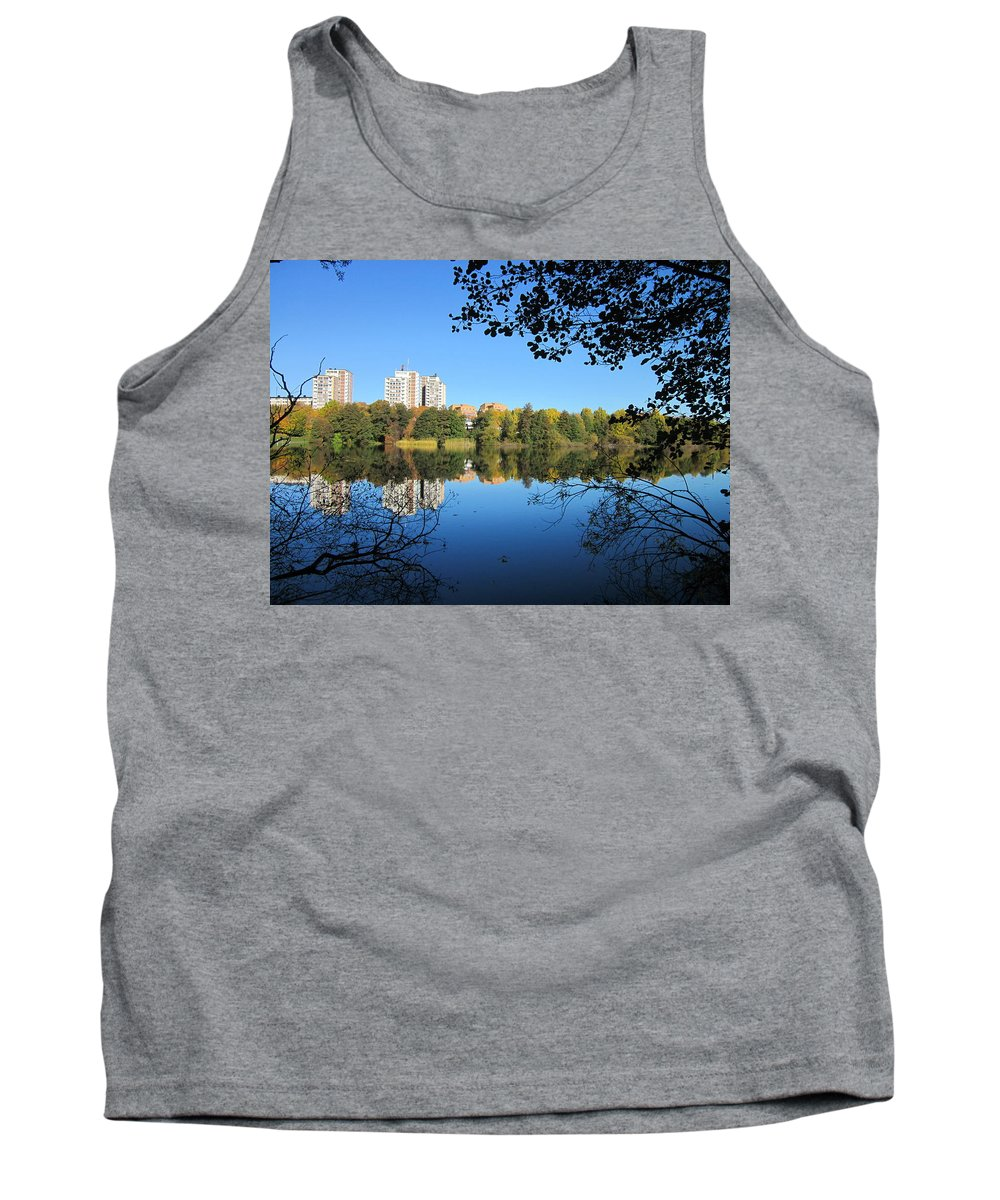 Outdoor Tank Top featuring the photograph Autumn By The Lake 6 by Rosita Larsson