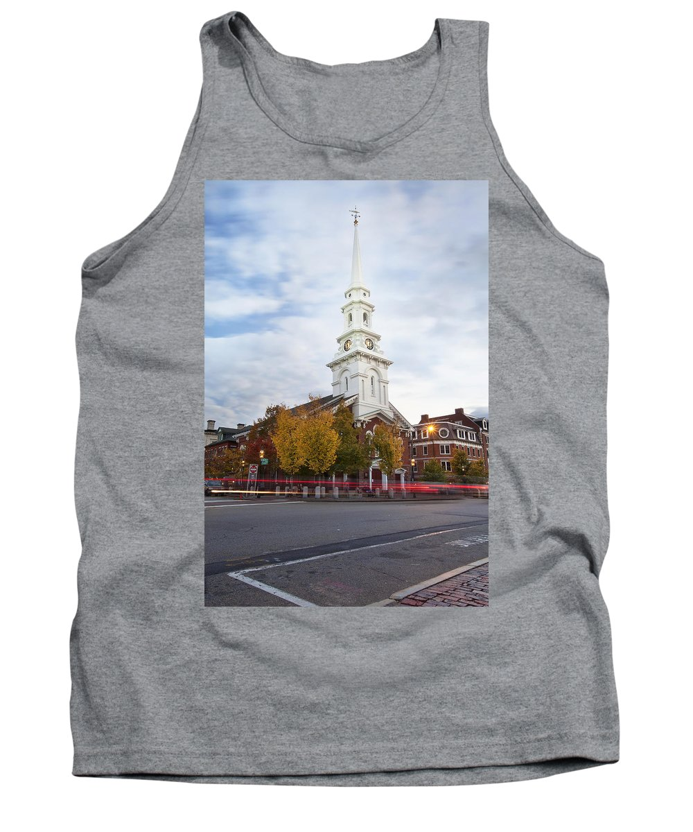 Autumn In Portsmouth Tank Top featuring the photograph Autumn In Portsmouth by Eric Gendron