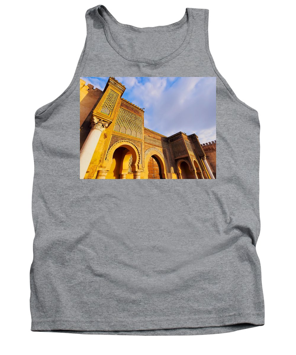 Africa Tank Top featuring the photograph Bab Mansour In Meknes In Morocco by Karol Kozlowski