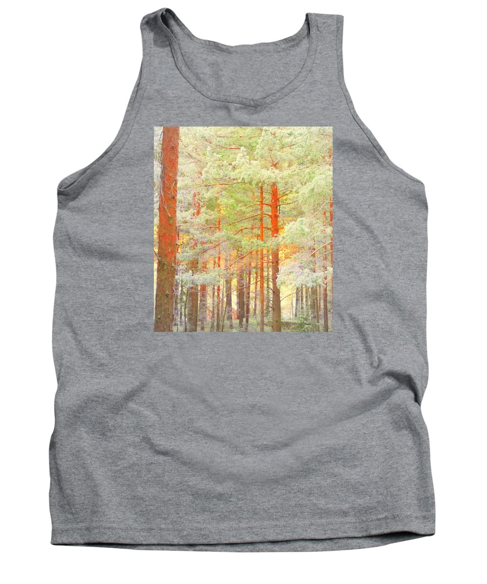 Tree Tank Top featuring the photograph Baby Its Cold Outside But The Trees Don't Freeze by Hilde Widerberg